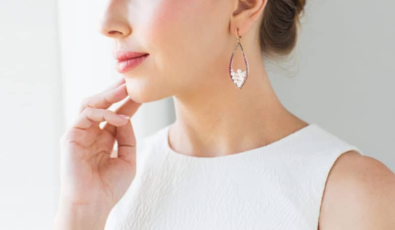 elegant woman with earrings | Celebrity Jewelry Fashion: How To Get The Look For Less