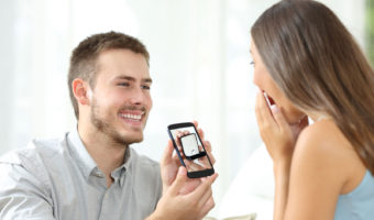 Man Showing a Ring To a Woman   6 Things To Look For From A Good Online Jewelry Store