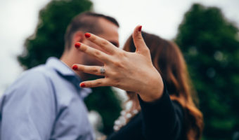 Couple Kissing, Woman Showing Ring   How Fake Jewelry Gives Fashion Jewelry A Bad Name