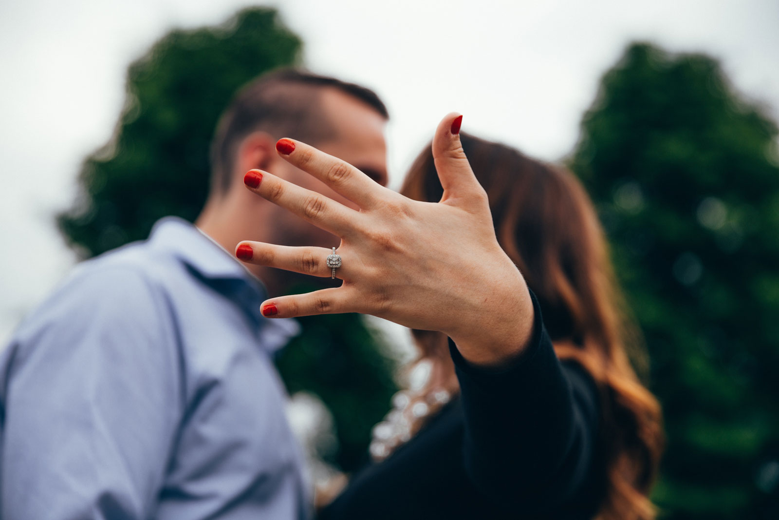 Couple Kissing, Woman Showing Ring | How Fake Jewelry Gives Fashion Jewelry A Bad Name